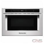 KitchenAid KMBD104GSS Microwave Drawer, 24 Exterior Width, 950W Watts, 1.2 cu. ft. Capacity, Stainless Steel colour