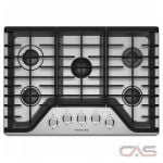 KitchenAid KCGS350ESS Cooktop, Gas Cooktop, 30 inch, 5 Burners, Stainless Steel colour