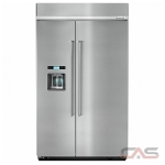 KitchenAid KBSD608ESS Built In Refrigerator, 48 Width, Thru Door Ice Dispenser, Energy Efficient, 29.5 Capacity, Counter Depth, Exterior Water Dispenser, LED Lighting, Fingerprint Resistant, Stainless Steel colour