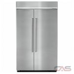 KitchenAid KBSN608ESS Built In Refrigerator, 48 Width, Freezer Located Ice Dispenser, 30 Capacity, Counter Depth, LED Lighting, Fingerprint Resistant, Stainless Steel colour