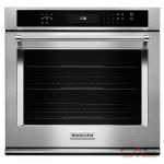 KitchenAid KOSE500ESS Single Wall Oven, 30'' Exterior Width, One Compartment Self Clean, One Compartment Convection, Temperature Probe, 5.0 cubic ft, Stainless Steel colour