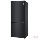 LG LBNC15231P Bottom Mount Refrigerator, 28 Width, 14.7 cu. ft. Capacity, Counter Depth, LED Lighting, ENERGY STAR Certified, Matte Black colour