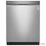 LG LDP6797ST Built-In Undercounter Dishwasher, 24 Exterior Width, 9 Wash Cycles, Stainless Steel (Interior), 3 Loading Racks, Fully Integrated, 15 Capacity (Place Settings), 44 dB Decibel Level, Wifi Enabled, Stainless Steel colour