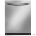 LG LDT7797ST Built-In Undercounter Dishwasher, 24 Exterior Width, 9 Wash Cycles, Stainless Steel (Interior), 3 Loading Racks, Fully Integrated, 44 Decibel Level