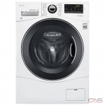 "LG WM3488HW Washer Dryer Combination, 24"" Width, 2.6 cu. ft. Capacity, 14 Wash Cycles, 5 Temperature Settings, 1400 RPM Washer Spin Speed, White colour"