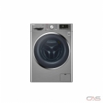 LG WM3499HVA Front Load Washer, 24 Width, 2.6 Capacity, 1400 Washer Spin Speed, Steam Clean, Wifi Enabled, Graphite Steel colour