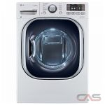 LG WM3997HWA Washer Dryer Combination, 27'' Width, 5.0 Cu. Ft. Capacity, 14 Wash Cycles, 5 Temperature Settings, 1300 Washer Spin Speeds (RPM), Steam Clean