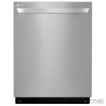 LG LDT5678SS Built-In Undercounter Dishwasher, 24 Exterior Width, 9 Wash Cycles, Stainless Steel (Interior), 3 Loading Racks, Fully Integrated, 15 Capacity (Place Settings), Hard Food Disposal, 46 Decibel Level, Wifi Enabled, Stainless Steel colour