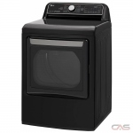 LG DLEX7900BE, 27 Width, Electric Dryer, 7.3 Capacity, 14 Dry Cycles, 5 Temperature Settings, Porcelain Drum, Steam Clean, Wifi Enabled, Black Stainless Steel colour