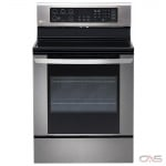 LG LRE3061ST Range, Electric Range, 30'' Exterior Width, Convection, 5 Burners, Glass Burners (Electric), Storage Drawer, 6.3 cubic ft, 1 Ovens, Free Standing, 3200W