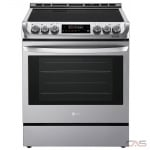 LG LSE4611ST Range, Electric Range, 30 Exterior Width, Convection, 5 Burners, Glass Burners (Electric), Storage Drawer, 6.3 cu. ft. Capacity, 1 Ovens, Slide In, Wifi Enabled, 3200W, Stainless Steel colour