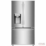 LG LFXC22526S, 36 Width, Freezer Located Ice Dispenser, Energy Efficient, 22.0 Capacity, Counter Depth, Exterior Water Dispenser, LED Lighting, Fingerprint Resistant, Stainless Steel colour