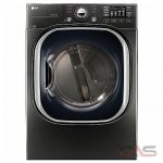 LG DLEX4370K, 27 Width, Electric Dryer, 7.4 Capacity, 14 Dry Cycles, 5 Temperature Settings, Stackable, Steel Drum, Steam Clean, Wifi Enabled, Black Stainless Steel colour
