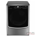 LG DLEX9000V, 30 Width, Electric Dryer, 9.0 Capacity, 14 Dry Cycles, 5 Temperature Settings, Steel Drum, Steam Clean, Wifi Enabled, Graphite Steel colour