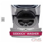 LG WD200CV Product Accessory, 29 Width, 1.0 Capacity, 6 Wash Cycles, 2 Temperature Settings, 700 Washer Spin Speed, Graphite Steel colour