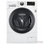 "LG WM1388HW Compact Washer, 24"" Width, 2.6 cu. ft. Capacity, 14 Wash Cycles, 5 Temperature Settings, Stackable, Water Heater, 1400 RPM Washer Spin Speed, Wifi Enabled, ENERGY STAR Certified, White colour Apartment Size"