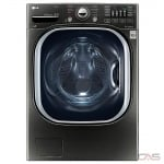 LG WM4370HKA Front Load Washer, 27'' Width, Energy Efficient, 5.2 Cu. Ft. Capacity, 14 Wash Cycles, 5 Temperature Settings, Stackable, 1300 Washer Spin Speeds (RPM), Steam Clean