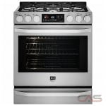 LG Studio LSSG3016ST Range, Gas Range, 30 inch, Self Clean, Convection, 5 Burners, Sealed Burners (Gas), Warming Drawer, 6.3 cubic ft, 1 Ovens, Slide In, Stainless Steel colour