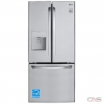 LG LFD22716ST French Door Refrigerator, 30 Width, Freezer Located Ice Dispenser, 22.0 cu. ft. Capacity, Exterior Water Dispenser, LED Lighting, Fingerprint Resistant, ENERGY STAR Certified, Stainless Steel colour