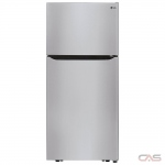 LG LTCS20040S Top Mount Refrigerator, 30 Width, 20.2 cu. ft. Capacity, LED Lighting, ENERGY STAR Certified, Stainless Steel colour