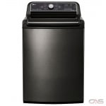 "LG WT7600HKA Top Load Washer, 27"" Width, 6.0 cu. ft. Capacity, 14 Wash Cycles, 5 Temperature Settings, Water Heater, 950 RPM Washer Spin Speed, Steam Clean, Wifi Enabled, ENERGY STAR Certified, Black Stainless colour"