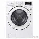 "LG WM3090CW Front Load Washer, 27"" Width, 5.2 cu. ft. Capacity, 10 Wash Cycles, 3 Temperature Settings, Stackable, 1300 RPM Washer Spin Speed, Wifi Enabled, ENERGY STAR Certified, White colour"
