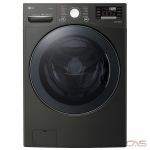 "LG WM3800HBA Front Load Washer, 27"" Width, 5.2 cu. ft. Capacity, 14 Wash Cycles, 5 Temperature Settings, Stackable, Water Heater, 1300 RPM Washer Spin Speed, Steam Clean, Wifi Enabled, ENERGY STAR Certified, Black Stainless Steel colour"