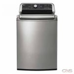 "LG WT7850HVA Top Load Washer, 27"" Width, 6.0 cu. ft. Capacity, 5 Wash Cycles, 5 Temperature Settings, 950 RPM Washer Spin Speed, Steam Clean, ENERGY STAR Certified, Graphite Steel colour"