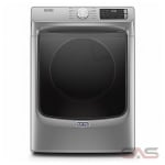 Maytag YMED6630HC, 27 Width, Electric Dryer, 7.4 Capacity, 12 Dry Cycles, 4 Temperature Settings, Stackable, Steel Drum, Steam Clean, Metallic Slate colour