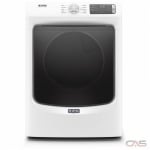 "Maytag YMED5630HW Dryer, 27"" Width, Electric Dryer, 7.3 cu. ft. Capacity, 10 Dry Cycles, 4 Temperature Settings, Stackable, Steel Drum, White colour"