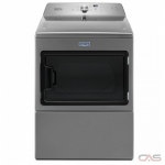 Maytag YMEDB765FC Dryer, 27 Width, Electric Dryer, 7.4 Capacity, 9 Dry Cycles, 5 Temperature Settings, Steel Drum, Metallic Slate colour