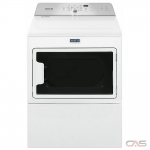Maytag YMEDB765FW, 27 Width, Electric Dryer, 7.4 Capacity, 9 Dry Cycles, 5 Temperature Settings, Steel Drum, White colour