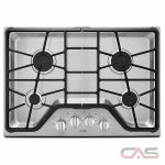 Maytag MGC7430DS Cooktop, Gas Cooktop, 30 inch, 4 Burners, Stainless Steel, Stainless Steel colour