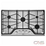 Maytag MGC7536DS Cooktop, Gas Cooktop, 36 inch, 5 Burners, Stainless Steel, 15K, Stainless Steel colour