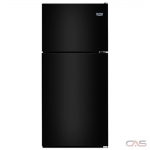 Maytag MRT311FFFE Top Mount Refrigerator, 33 Width, 20.5 cu. ft. Capacity, LED Lighting, Black colour
