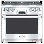 Miele HR1134 Range, Gas Range, 36 inch, Convection, 6 Burners, Sealed Burners (Gas), 5.8 cubic ft, Free Standing, Stainless Steel colour
