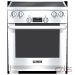 Miele HR1421 Range, Electric Range, 30 inch, Self Clean, Convection, 4 Burners, Glass Burners (Electric), 4.6 cubic ft, Free Standing, Stainless Steel colour