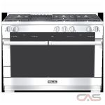 Miele HR1955 Range, Dual Fuel Range, 48 inch, Self Clean, Convection, 6 Burners, Sealed Burners (Gas), Warming Drawer, Free Standing, Stainless Steel colour