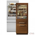 Monogram ZIK30GNNII Built In Refrigerator, 30 Width, Freezer Located Ice Dispenser, 14.6 cu. ft. Capacity, LED Lighting, Panel Ready