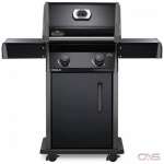Napoleon Grills Rogue R365PK-1 BBQ Grill, Freestanding, Liquid Propane, 2 Burners, 495 sq. in. Cooking Area, Cast Iron Grate Construction, 32K BTU, Black colour