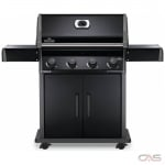 Napoleon Grills Rogue R525PK-1 BBQ Grill, Freestanding, Liquid Propane, 4 Burners, 710 sq. in. Cooking Area, Cast Iron Grate Construction, 48K BTU, Black colour