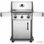 Napoleon Grills Rogue RXT425NSS-1 BBQ Grill, Freestanding, Natural Gas, 3 Burners, 570 sq. in. Cooking Area, Cast Iron Grate Construction, 42K BTU, Stainless Steel colour