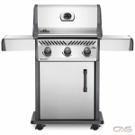 Napoleon Grills Rogue RXT425PSS-1 BBQ Grill, Freestanding, Liquid Propane, 3 Burners, 570 sq. in. Cooking Area, Cast Iron Grate Construction, 42K BTU, Stainless Steel colour