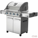 Napoleon Grill LEX LEX485PSS-1, 62 Width, Freestanding, Liquid Propane, 4 Burners, 675 Cooking Area, Stainless Steel Grate Construction, Yes (Special Order), 48K