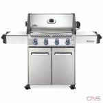 "Napoleon Grills Prestige P500NSS-3 BBQ Grill, 66 1/4"" Width, Freestanding, Natural Gas, 4 Burners, 760 sq. in. Cooking Area, Stainless Steel Grate Construction, Smoking Tray, 48K BTU, Stainless Steel colour"