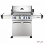 "Napoleon Grills Prestige P500RBNSS-3 BBQ Grill, 66 1/4"" Width, Freestanding, Natural Gas, 5 Burners, 760 sq. in. Cooking Area, Stainless Steel Grate Construction, Rotisserie, 66K BTU, Stainless Steel colour"