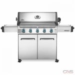 "Napoleon Grills Prestige P665NSS BBQ Grill, 75"" Width, Freestanding, Natural Gas, 5 Burners, 1002 sq. in. Cooking Area, Stainless Steel Grate Construction, 60K BTU, Stainless Steel colour"