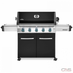 "Napoleon Grills Prestige P665PK BBQ Grill, 75"" Width, Freestanding, Liquid Propane, 5 Burners, 1002 sq. in. Cooking Area, Stainless Steel Grate Construction, 60K BTU, Black colour"