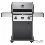 Napoleon Grills Rogue R425NK, 51 Width, Freestanding, Natural Gas, 3 Burners, 535 Cooking Area, Cast Iron Grate Construction, 36K, Black colour