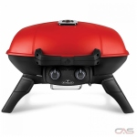 "Napoleon Grills TQ285-RD-1-A BBQ Grill, 19 1/4"" Width, Portable, Liquid Propane, 2 Burners, 285 sq. in. Cooking Area, Cast Iron Grate Construction, 12K BTU, Red colour"